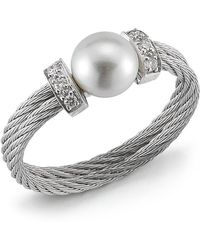 Charriol Diamondstation Pearl Cable Ring Size 65 silver - Lyst