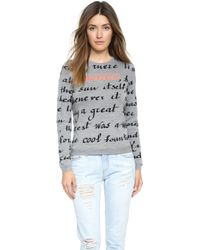 RED Valentino Beautiful Poem Sweater - Grey - Lyst