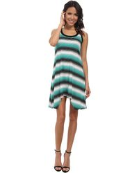 Karen Kane Handkerchief Stripe Dress - Lyst