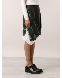 Stella McCartney Printed Draped Skirt - Lyst