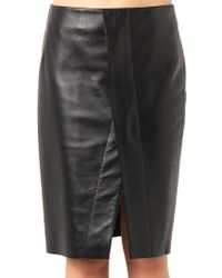 Acne Studios Kay Leather Pencil Skirt - Lyst