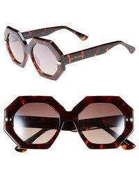 Isaac Mizrahi New York - 49mm Sunglasses - Dark Tortoise - Lyst