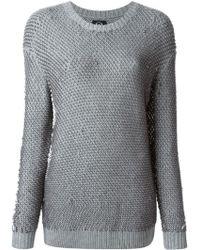 McQ by Alexander McQueen Brioche Knit Sweater - Lyst
