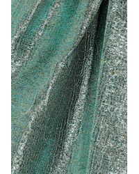 Vika Gazinskaya - Metallic Green Wrap Skirt - Lyst
