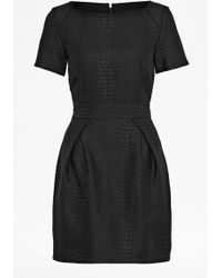 French connection Croc Luxe Slash Neck Dress - Lyst