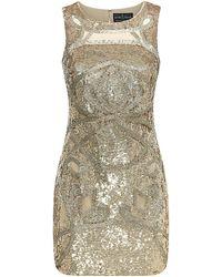 Needle & Thread Ornate Sequin Sleeveless Dress - Lyst