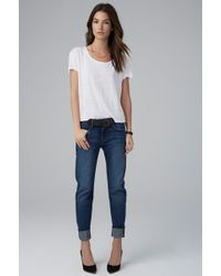 Velvet By Graham & Spencer Jenny Tailored Boyfriend Jean In Vintage - Lyst