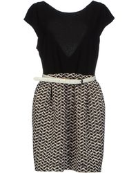 Alice + Olivia Black Short Dress - Lyst