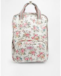 Cath Kidston - Matt Coated Backpack in Kingwood Rose Print - Lyst