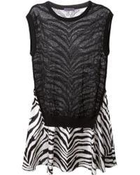 Emanuel Ungaro Zebra-Print Flared Dress - Lyst