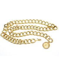 Chanel Pre-owned Gold Chain Cambon Rue Charm Belt - Lyst