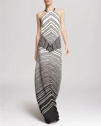Halston Heritage Gown - Stripe - Lyst