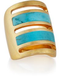 Pamela Love Irissa Gold-Plated Turquoise Path Ring - Lyst