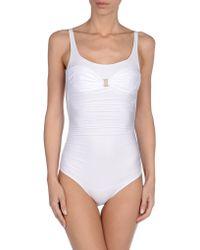Annaclub By La Perla White Onepiece Suit - Lyst