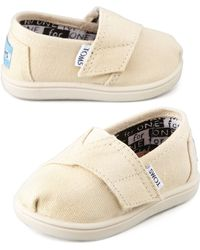TOMS Classic Canvas Slipon Natural Tiny - Lyst