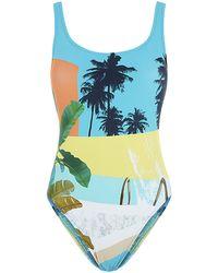 Seafolly Poolside Tank Swimsuit - Lyst