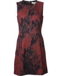 Elle Sasson Angela Red Ice Print Dress - Lyst