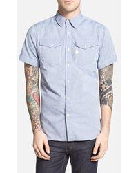 G-Star RAW Men'S 'Tacoma' Extra Trim Fit Short Sleeve Oxford Shirt - Lyst