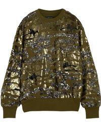 Isabel Marant Hamilton Sequined Cotton-Blend Jersey Sweatshirt - Lyst
