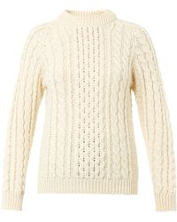 &Daughter The Aran-Knit Wool Sweater - Lyst