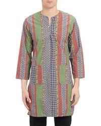Engineered Garments Multicolor Foulard Hippie Stripe Tunic - Lyst