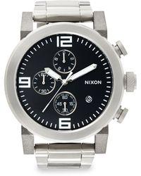 Nixon Stainless Steel Chronograph Bracelet Watch - Lyst