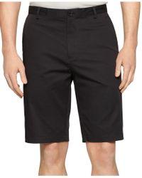 Calvin Klein Chino Walking Shorts black - Lyst