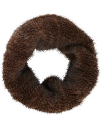 Barneys New York Mink Fur Cowl - Lyst