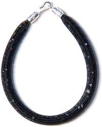 Peppercotton Black Velvet Swarovski Crystal Bracelet