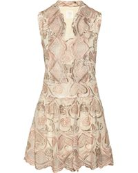 Anna Sui Deco Embroidered Tulle Dress - Lyst