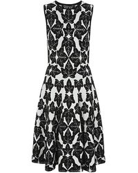 Alexander McQueen Ivy Jacquard Full Circle Dress - Lyst