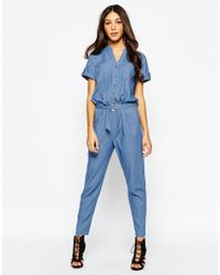 Never Fully Dressed   Chambray Jumpsuit With D Ring Belt   Lyst