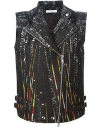 Givenchy Sleeveless Biker Jacket - Lyst