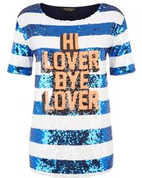 Juicy Couture Sequin Stripe Graphic Tee - Lyst