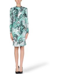 Jonathan Saunders Green Short Dress - Lyst