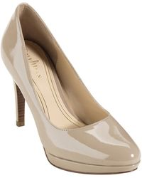 Cole Haan Chelsea Patent Leather Pumps - Lyst