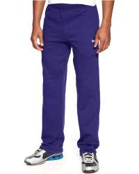 Nike Fleece Cuff Pants - Lyst