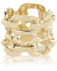 River Island Gold Tone Chain Ring - Lyst