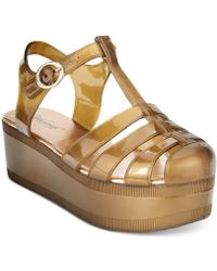 Wanted - Jellypop Flatform Jelly Sandals - Lyst