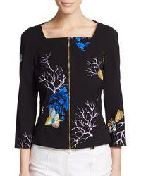 Versace Reef-Print Zip Jacket - Lyst