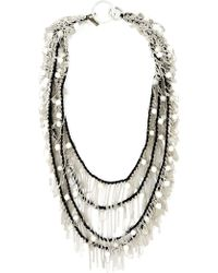 Goti Draped Chain And Bead Necklace - Lyst