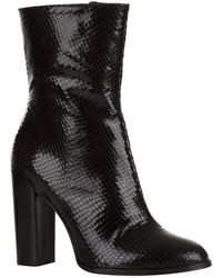 Carvela Kurt Geiger   Shield Snakeskin Ankle Boots   Lyst