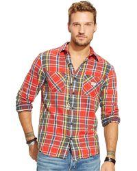 Denim & Supply Ralph Lauren Plaid Flannel Workshirt - Lyst