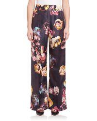 Max Mara | Ponera Silk Floral Pants | Lyst