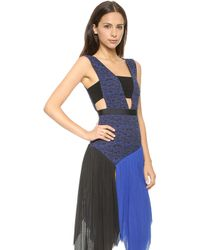 Self-portrait Sunray Pleated Dress  Blue - Lyst