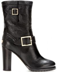 Jimmy Choo Dart Leather Boots - Lyst