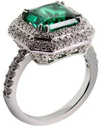 Carat* - Princess 3ct Green Borderset Ring - Lyst