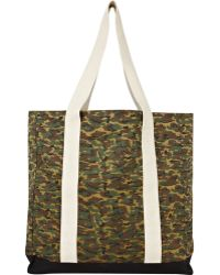 River Island Green Camouflage Shopper Bag - Lyst