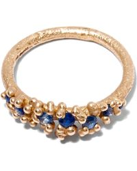 Ruth Tomlinson - Gold Sapphire Granulate Ring - Lyst
