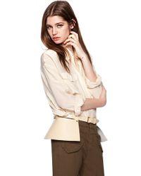 Pixie Market - Beige Pleather Leather Belt - Lyst